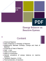 W8 Energy Balance on Reactive Processes