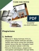 Plagiarism Dan Hak Paten