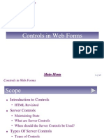 Chapter 7 - Control in Web Forms