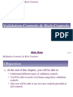 Chapter 8 - Validation and Rich Controls