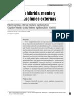 Véliz (2009) Cognición Híbrida, Mente y Representaciones Externas