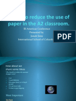 How to Reduce the Use of Paper In