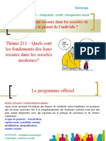 Thème 211 - liens dans les sociétés modernes.ppt