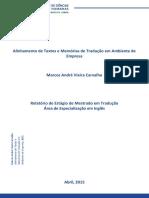 Alinhamento de Textos e Memórias de Tradução Em Ambiente de Empresa
