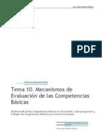 Mecanismos de Evaluación de las Competencias Básicas