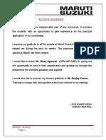 Training Report Maruti Suzuki