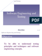 Chap 3 - Software Engineering and Testing