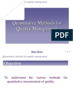 Chap 6 - Quantitative Method for Quality Management