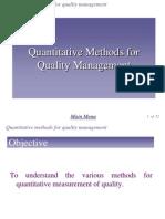 Chap 6 - Quantitative Method for Quality Management