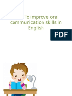 How to Improve Oral Communication Skills in English