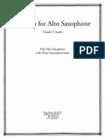 Fantasia for Alto Saxophone Claude T. Smith