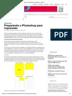 Preparando o Photoshop Para Impressão