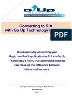 Converting to RIA With Go Up Technologys Solution