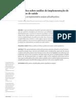 Reflexoes Sobre Implementação Politicas Publicas