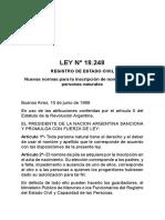 Ley 18.248 Registro de Estado Civil