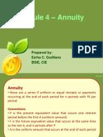 Module 4 - Annuity