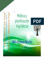 Política y Planificación Lingüísticas