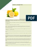 Zitrusfrüchte als Allheilmittel