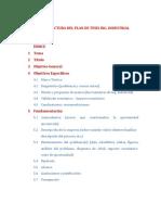 Estructura Sugerida Del Plan de Tesis