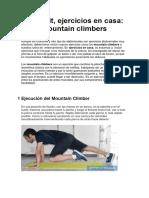 Crossfit - Ejercicios en Casa - Mountain Climber