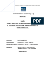 Gestion Délocalisée Des Dossiers Comptables Moyens Et Procédures Pour Réussir La Mise en Oeuvre Par Les Cabinets Marocains