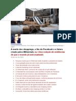 FLÁVIA GAMONAR - A Morte Dos Shoppings, o Fim Do Facebook e o Futuro Criado Pelos Millennials