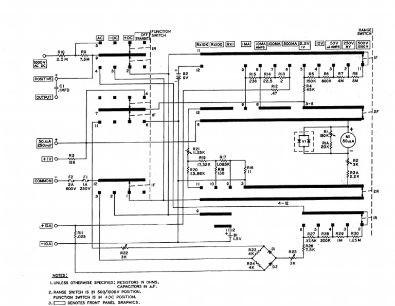 Simpson 260-7 and 7m Schematic on simpson analog multimeter schematic, maytag performa schematic, simpson analog meter, kenmore electric dryer schematic, simpson meter schematics, current shunt schematic, simpson current shunt, digital multimeter schematic, simpson 5 series schematic, ohm meter schematic,