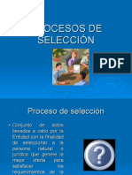 Procesos de Seleccion
