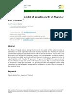 Aquatic Plants in Myanmar