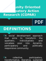 Community Oriented Participatory Action Research (COPAR)