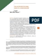 La Autoevalución Institucional y La Cultura de La Participación
