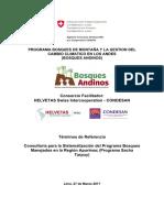 270317 TdRs Sistematización Del Programa Bosques Manejados en La Región Apurímac Consolidado FINAL