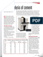 XRF Analysis of Cement-ICR April 2011