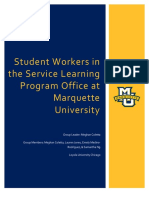 artifact 3- student workers in the service learning program office at marquette university-final  1