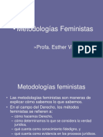 Esther Vicente Metodologias Feministas