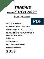 Diyuntores y Llaves Termicas Tp.3 Electricidad 2015