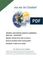 Actividad 2 Ciencias de La Vida y La Tierra - El Clima en La Ciudad