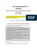 Atualização Livro de Súmulas e OJs Do TST - Comentadas e Organizadas Por Assunto - 7 Ed