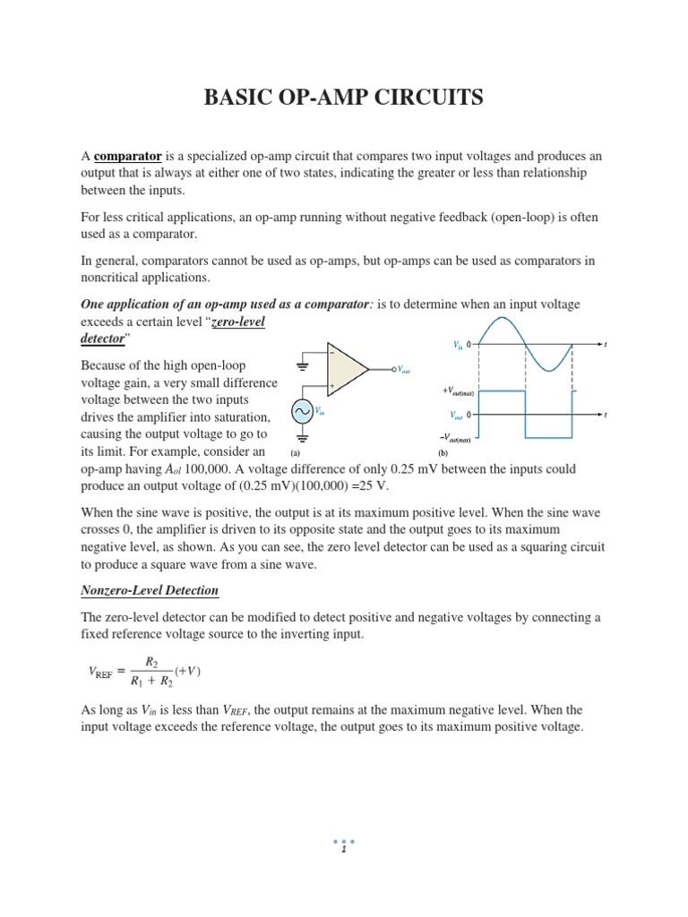 Basic Op-Amp Circuits   Operational Amplifier   Analog Circuits