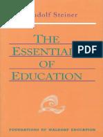 STEINER, Rudolf - The Essentials of Education.pdf
