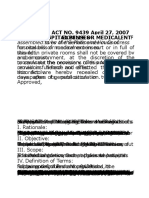 RA 9439 Anti Hospital Detention
