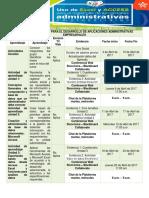 Cronograma de Actividades Excel y Access