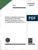 Indice de Refraccion Norma Venezolana