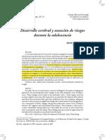 Oliva Delgado, A (2007) – Desarrollo Cerebral y Asunción de Riesgos Durante La Adolescencia