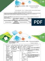 Guía de Actividades y Rúbrica de Evaluación - Fase 3 - Elaborar Análisis Sobre Gestión Integral Del Recurso Hídrico y Realizar Análisis Del POMCA