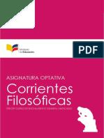 Asignatura Optativa Corrientes Filosoficas CS 3BGU