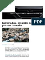 Extremadura, El Paraíso de Las Piscinas Naturales