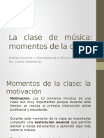La Clase de Musica y Su Planificacion