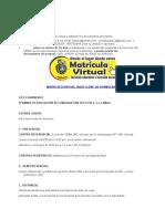 Matrícula Virtual