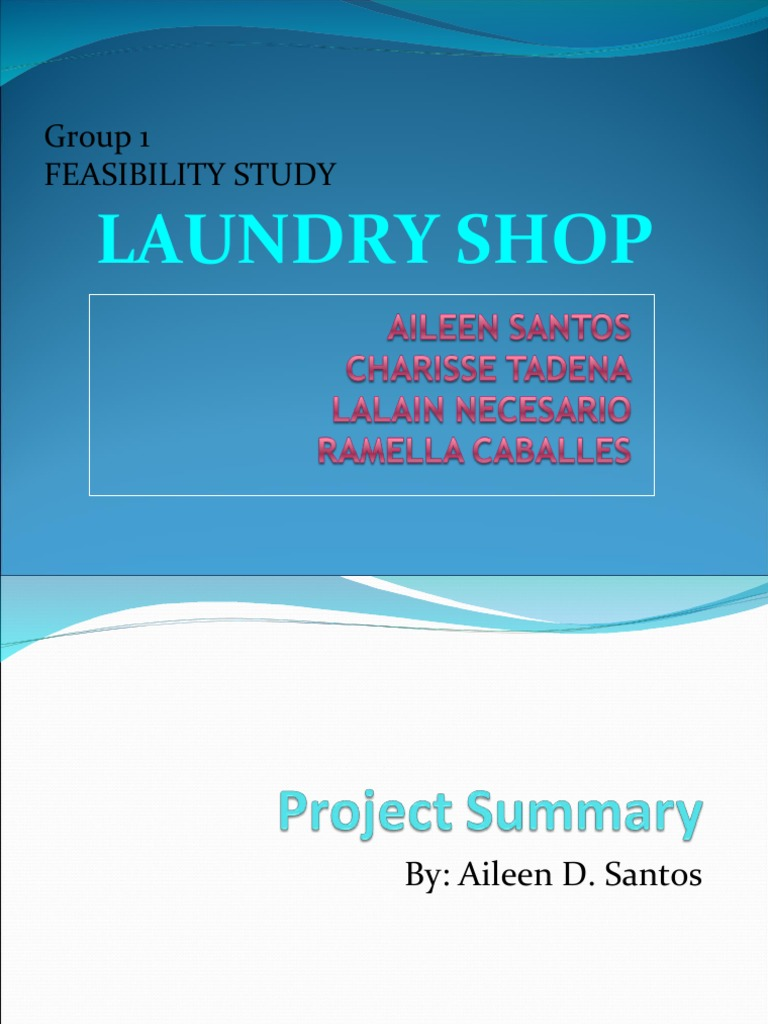 Feasibility studies laundry shop washing machine clothing solutioingenieria Image collections